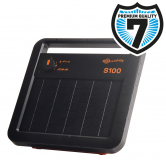 S100 solar fence energizer incl. battery