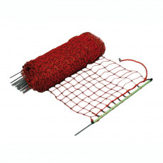 Rabbit-/hobby net, orange, single pin, 65cm