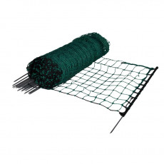 Rabbit-/hobby net, green, single pin, 65cm