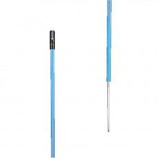 Plastic post (blue, 1,35m + 0,20m spike (pack of 10)