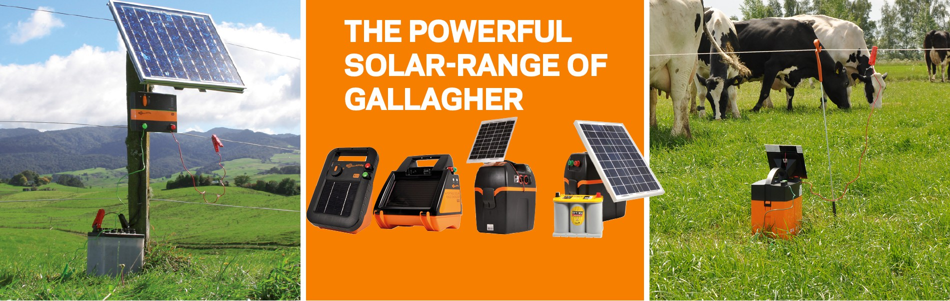 Solar electric fencing energizers