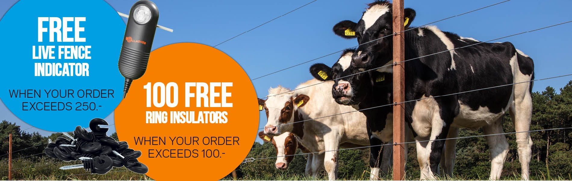 Free Live Fence Indicator when your order exceeds 250.-