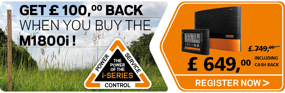 Register your M1800i and get £ 100 back - Gallagher fencing